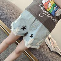 女童牛仔短裤夏夏装薄款儿童破洞裤子女大童夏季