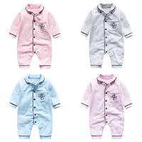 女婴儿连体衣服秋冬季0岁2个月男宝宝3新生儿衣服冬装加厚外出服