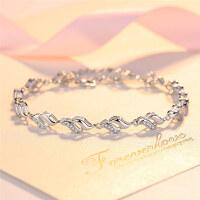 手链女s925银银珠圆珠转运珠佛珠首饰品日韩版甜美时尚手链手环