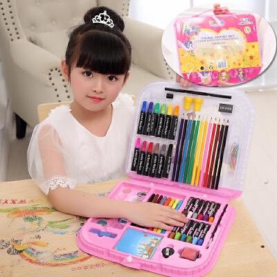 儿童水彩笔套装幼儿园画画笔绘画工具小学生蜡笔美术用品生日礼物礼品文具 粉红色 配礼品 发货周期:一般在付款后2-90天左右发货,具体发货时间请以与客服协商的时间为准
