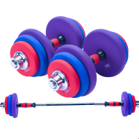 哑铃男士包胶健身家用20/30公斤亚玲锻炼器材 男士练臂肌套装15公斤20kg30 包胶浸塑亚铃一对 1