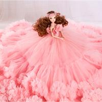 娃娃粉色大裙摆女孩闺蜜女友儿童礼物礼盒装