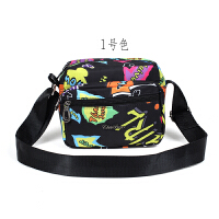 新款女包斜挎包单肩包休闲时尚尼龙印花中老年妈妈包潮流小方包
