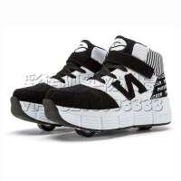 秋冬季潮流童鞋暴走鞋男童女童自动款儿童带轮子运动鞋成人滑轮溜冰鞋时尚款