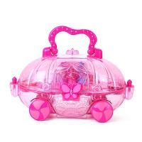 Disney迪士尼公主化妆车儿童彩妆玩具套装女孩演出表演化妆品礼盒 +指甲贴