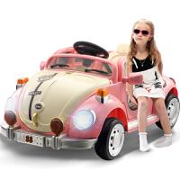 儿童电动车带遥控玩具车可坐人电动汽车女摇摆童车四轮