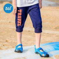 【1件3折到手价:41.7】361度童装儿童短裤夏季男童针织七分裤大童裤N51722531