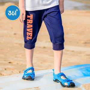 361度童装儿童短裤夏季男童针织七分裤大童裤N51722531