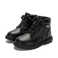 女童马丁靴冬款儿童棉鞋加绒童鞋冬季雪地短靴