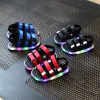 儿童男宝凉鞋1-3岁夏季韩版亮灯2男宝宝学步鞋女童男童鞋子夏天潮