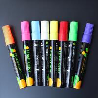 黑板斜头圆头彩色记号笔玻璃荧光板发光笔水性笔荧光笔