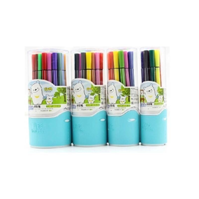 正品真彩12 18 24 36色优质水彩笔 可水洗画画笔出水流畅