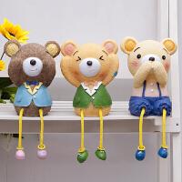 三不熊吊脚娃娃摆设 创意家居装饰品结婚礼物 树脂工艺品摆件 一套3只