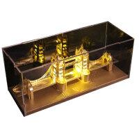3D立体拼图金属模型手工天鹅堡建筑拼装玩具礼品 伦敦大桥+黄灯 送:豪华礼包