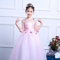 儿童公主裙春季新款礼服蓬蓬裙女孩钢琴演出生日宴会长款晚礼服
