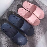 浴室拖鞋洗澡漏水 男夏室内家用沐浴托鞋 镂空卫生间女凉拖鞋