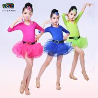 新款儿童拉丁舞演出服女童舞蹈服装练功裙