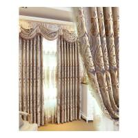 欧式窗帘客厅豪华成品刺绣纱丝绒提花遮光卧室落地窗飘窗.