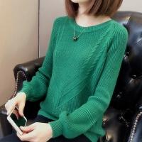 宽松套头女针织衫短款女装毛衣新款慵懒风春秋季糖果色纯色打底衫