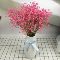 陶瓷花瓶桌面摆件欧式陶瓷现代简约白色条纹花瓶插花花艺装饰展示