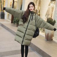 面包服女中长款加厚2017冬季韩版小熊连帽棉衣羽绒棉袄学生潮