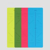 加长无味tpe瑜伽垫子女愈加厚初学者防滑加宽健身瑜珈垫 A11蓝色+捆带+精致背包 三件套 6mm(初学者)