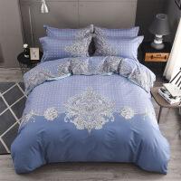 家纺床上用品纯棉套件田园床单款斜纹提全棉花四件套