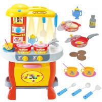 仿真餐具教灯光家家玩具之星套餐音效儿童厨具过早厨房 黄色 套餐十