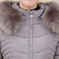 妈妈棉袄女冬季中老年羽绒棉衣加厚中长款40岁中年冬装外套婆婆