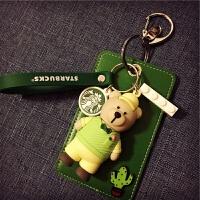 创意个性可爱小熊公仔校园多卡位饭卡地铁公交卡套卡包挂件