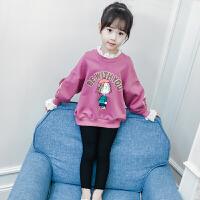 新款韩版女童卫衣春装儿童长袖打底衫中大童女孩假两件上衣潮