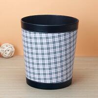 皮革桌面垃圾桶无盖 废纸篓小 家用办公卧室客厅欧式时尚可爱创意