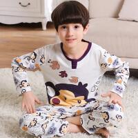 儿童睡衣长袖纯棉春秋季卡通中大童男孩男童小孩子学生薄款家居服