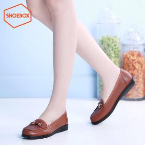 达芙妮旗下SHOEBOX/鞋柜休闲套脚单鞋女 圆头平底休闲女鞋潮