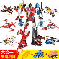 启智变形金刚拼装玩具组装车小孩男孩汽车拆卸组合战士儿童全套