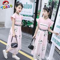 儿童夏季2018新款韩版连衣裙洋气裙子女孩衣服