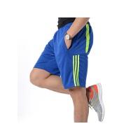 夏季健身男士运动短裤时尚休闲拼接线条五分裤薄款宽松大码短裤