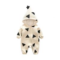 婴儿连体衣服男宝宝0新生儿3个月1秋冬季春夏冬装6外出抱衣外套装
