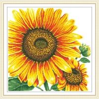 精准印花十字绣餐厅新款 向日葵十字绣新款小幅画卧室花草卉系列
