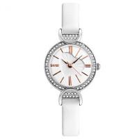 石英防水手表女士时装腕表简约时尚水钻个性皮带小巧女表