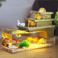金鱼缸水族箱桌面客厅创意小型家用迷你懒人生态亚克力玻璃长方形