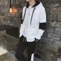 男卫衣连帽套装秋季韩版潮流帅气外套青少年学生休闲运动一套装