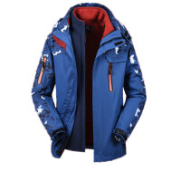 冲锋衣男女三合一两件套冬季加厚绒可拆 西藏登山服迷彩外套