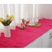 白色长毛绒地毯服装店橱窗地毯卧室床边地毯客厅茶几地垫毛毯