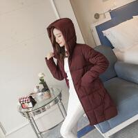 新款冬季冬装韩版羽绒面包服中长款棉衣女士棉袄外套加厚 M 建议80-100斤