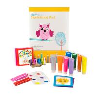 儿童手指画水彩颜料安全可水洗宝宝手掌印画涂鸦画画套装礼物
