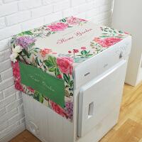 田园棉麻滚筒洗衣机罩巾盖布床头柜布盖巾单开门冰箱罩布艺防尘罩