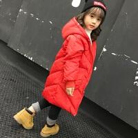 207新款真毛领反季宝宝儿童装加厚中长款羽绒服男童女童中大童冬 红色 没毛领