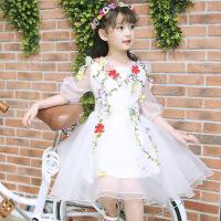 女童公主裙蓬蓬纱裙夏装仙女孩洋气裙子儿童连衣裙