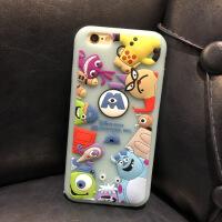 日本网红迪士尼怪兽大学卡通情侣苹果XS Max/XR软硅胶可爱新款手机壳iphone8plus/7p 6/6S 浅蓝